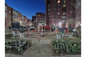 Внутриквартальное освещение территории двора в Санкт-Петербурге